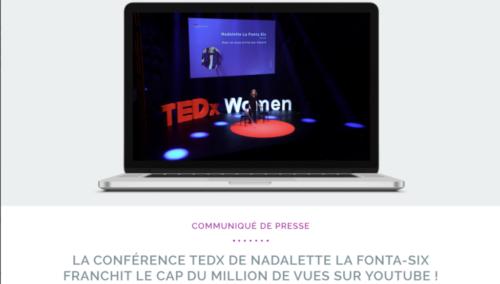 COMMUNIQUÉ : LE TED x DÉPASSE LE MILLION DE VUES